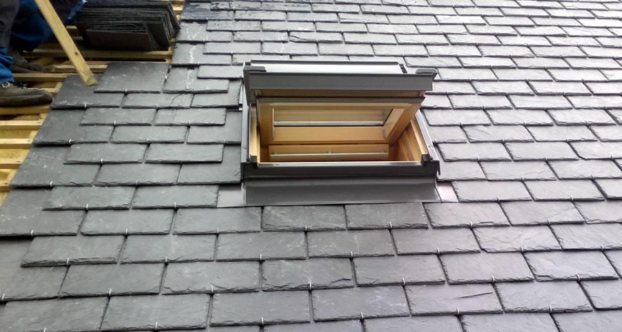 Ventana para tejado de pizarra madrid cubiertas de - Cubiertas de pizarra en madrid ...